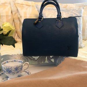 Louis Vuitton Epi Blue Speedy 25 bag